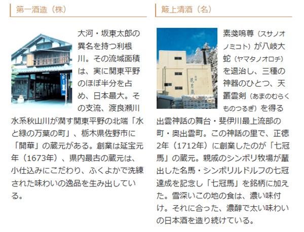 日本名門酒会頒布会2017年秋冬コース11月